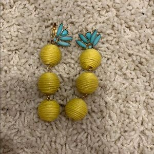 Pineapple bead earrings